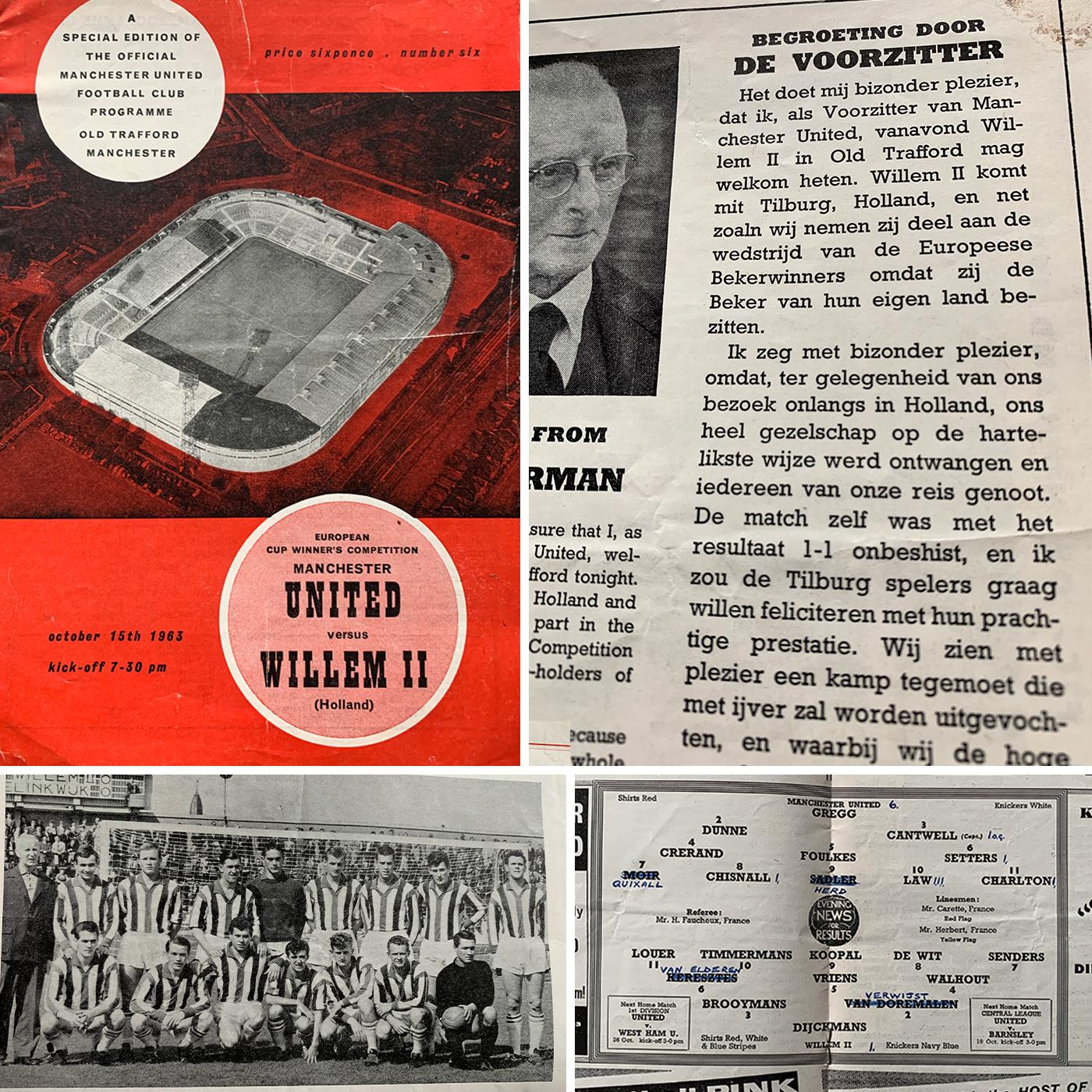 S01E03: Programmaboekje Manchester United - Willem II, 15 oktober 1963. Europa Cup voor Bekerwinnaars